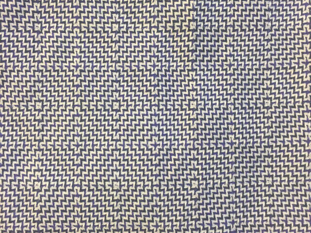Blue Purple and White pattern on dress shirt