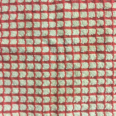 Red and white checkered towel fabric