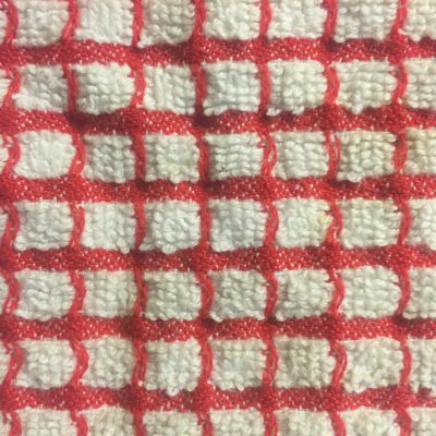 Red And White Towel Texture