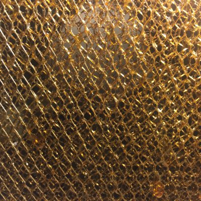 Mesh layers of golden metallic colors