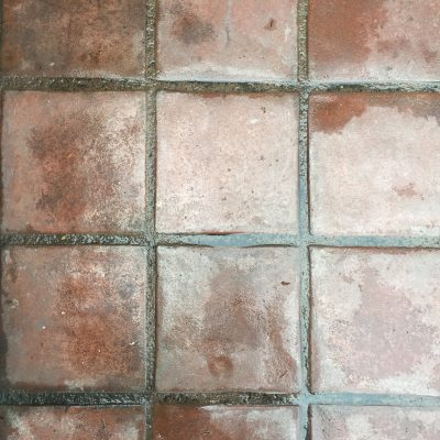 Red spanish square tiles