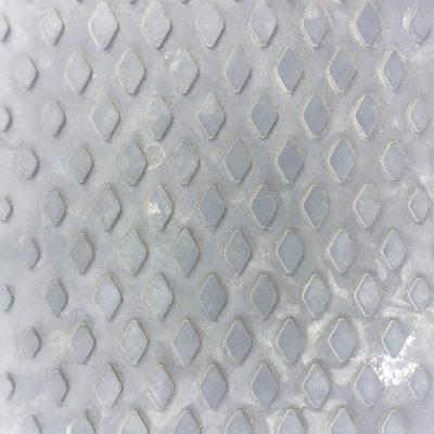 Dark plastic with diamond patterns