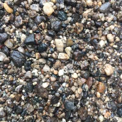 Colorful Wet Gravel Pebbles