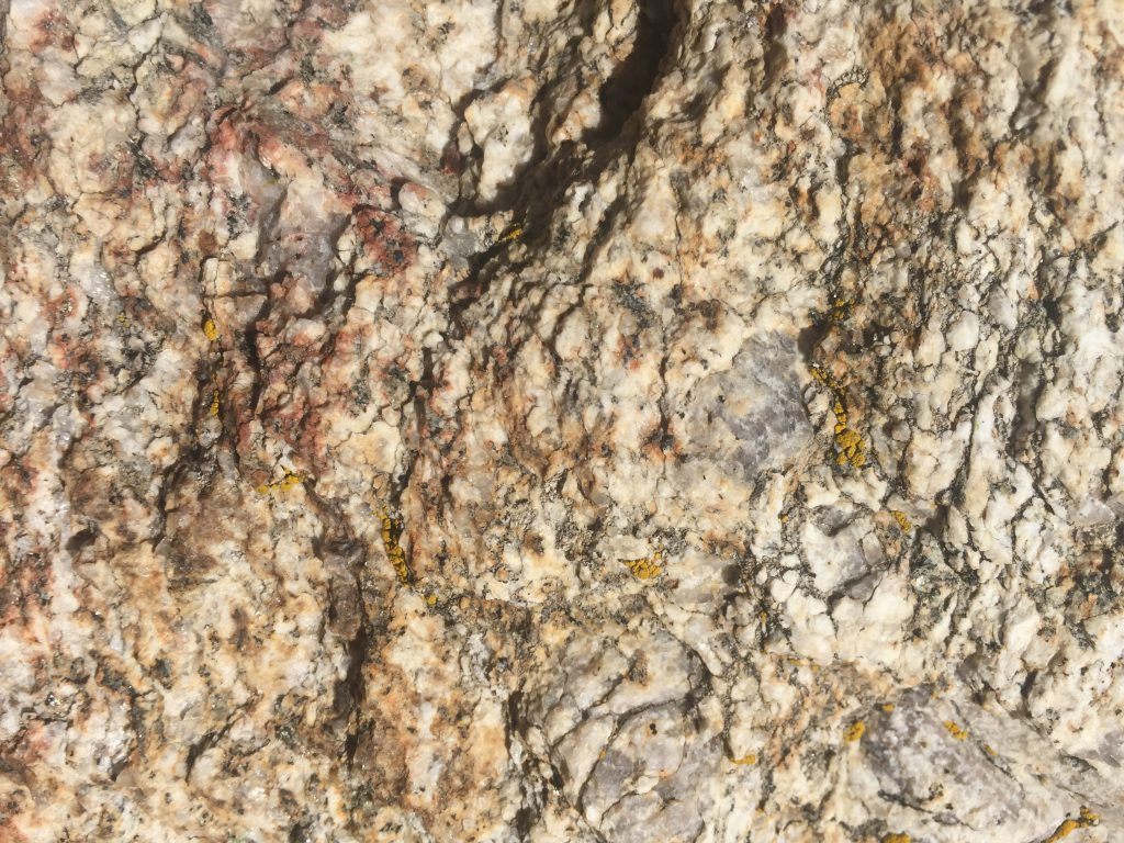 Colorful Rock Close Up
