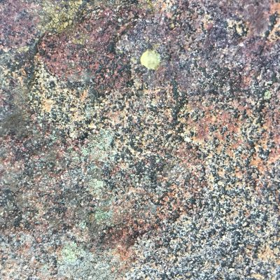 Colorful speckled rock face texture