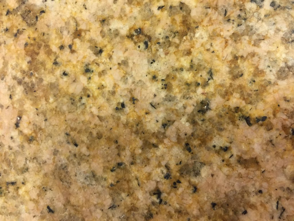 Stained polished granite counter top