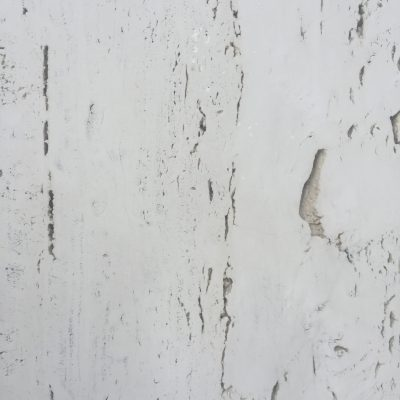Smooth white rock building exterior