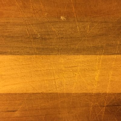 Wood Cutting Board with Scratches