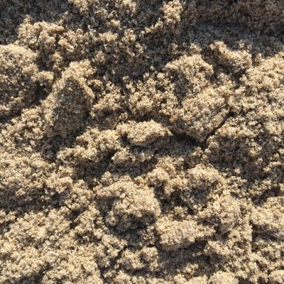 Close up of layers of sand with crevasses