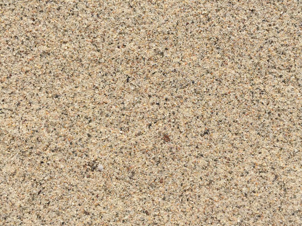 Speckled light brown wet beach sand