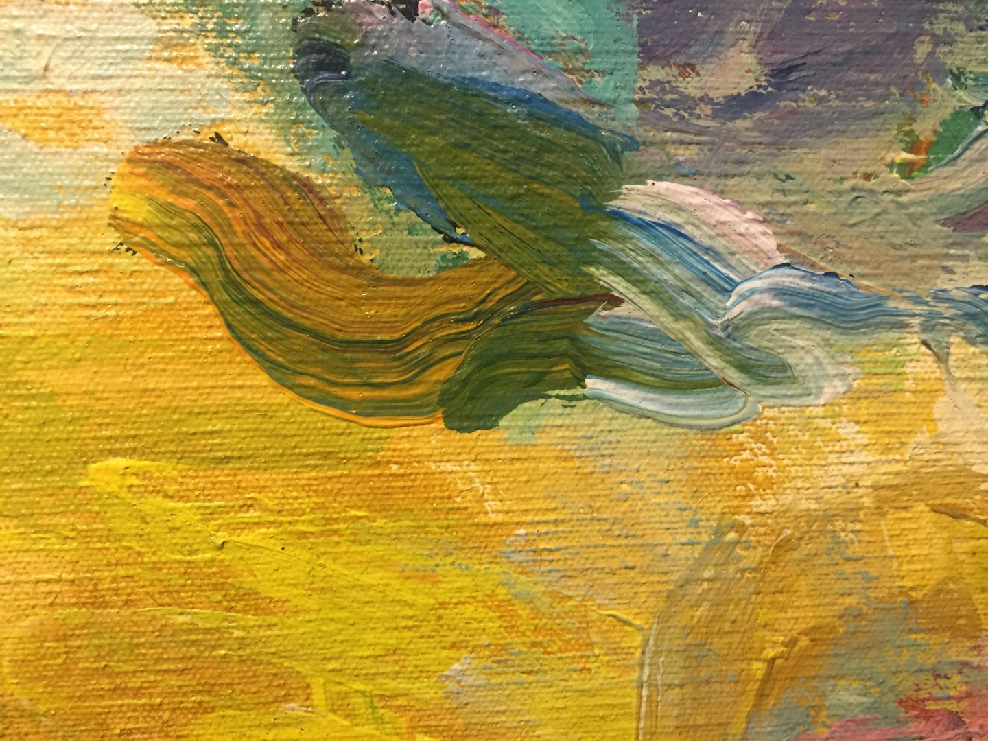 Colorful brush strokes on canvas texture | Free Textures