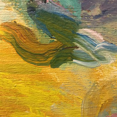 Colorful brush strokes on canvas texture