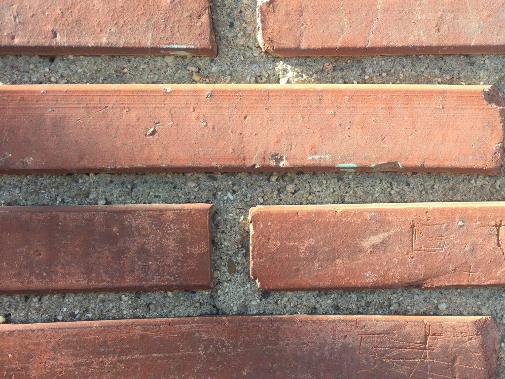 Bricks with scratches masonry texture
