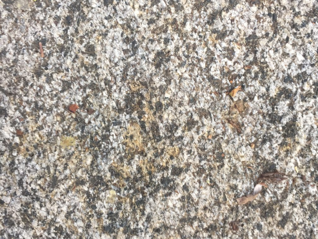 Close up of black and grey rock texture