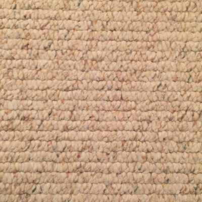 Off white closed loop carpet texture with speckled colors