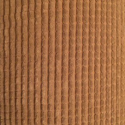 Light brown plush soft upholstery with vertical lines