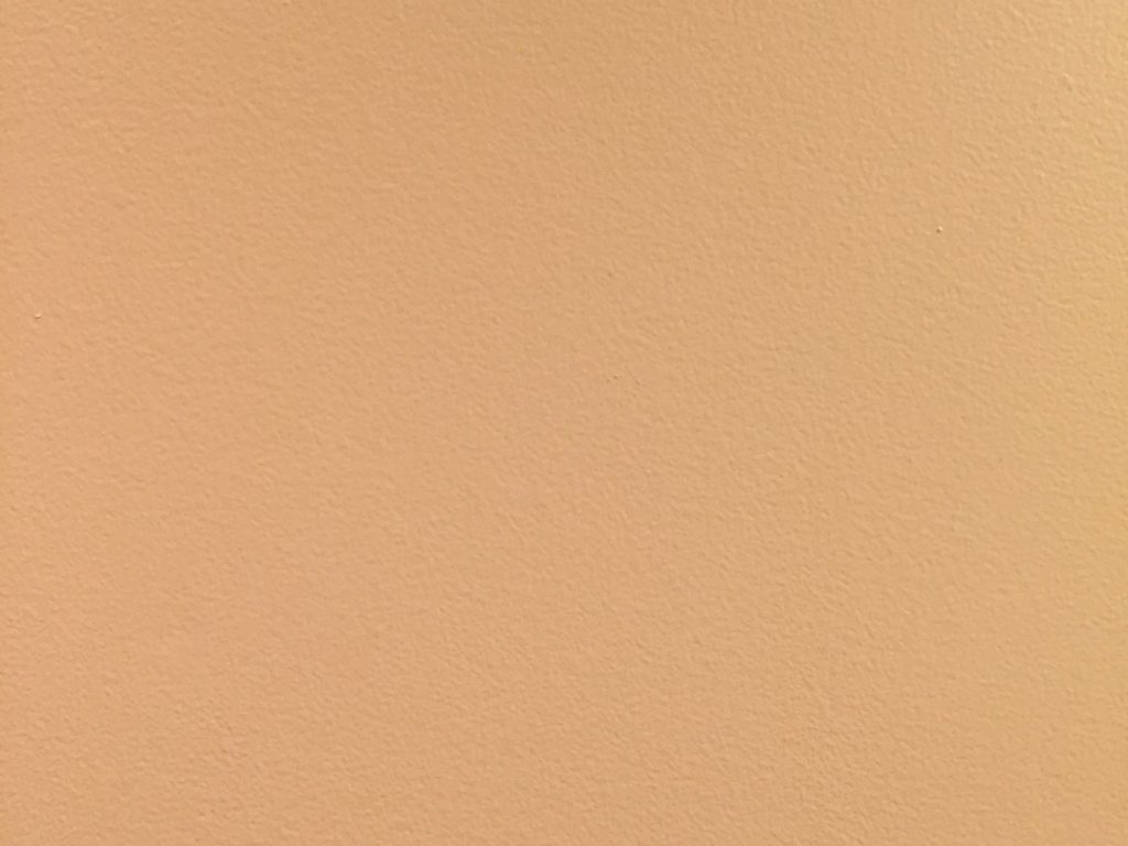 Subtle paint texture on a flat tan wall
