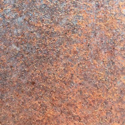 Coarse rusty metal close up