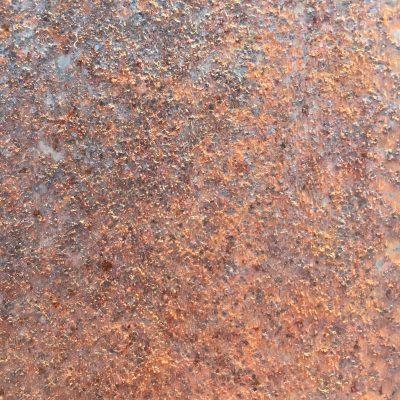 Coarse rusty metal close up