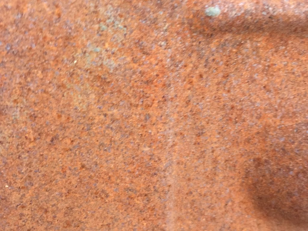 Detailed shot of noisy rust texture