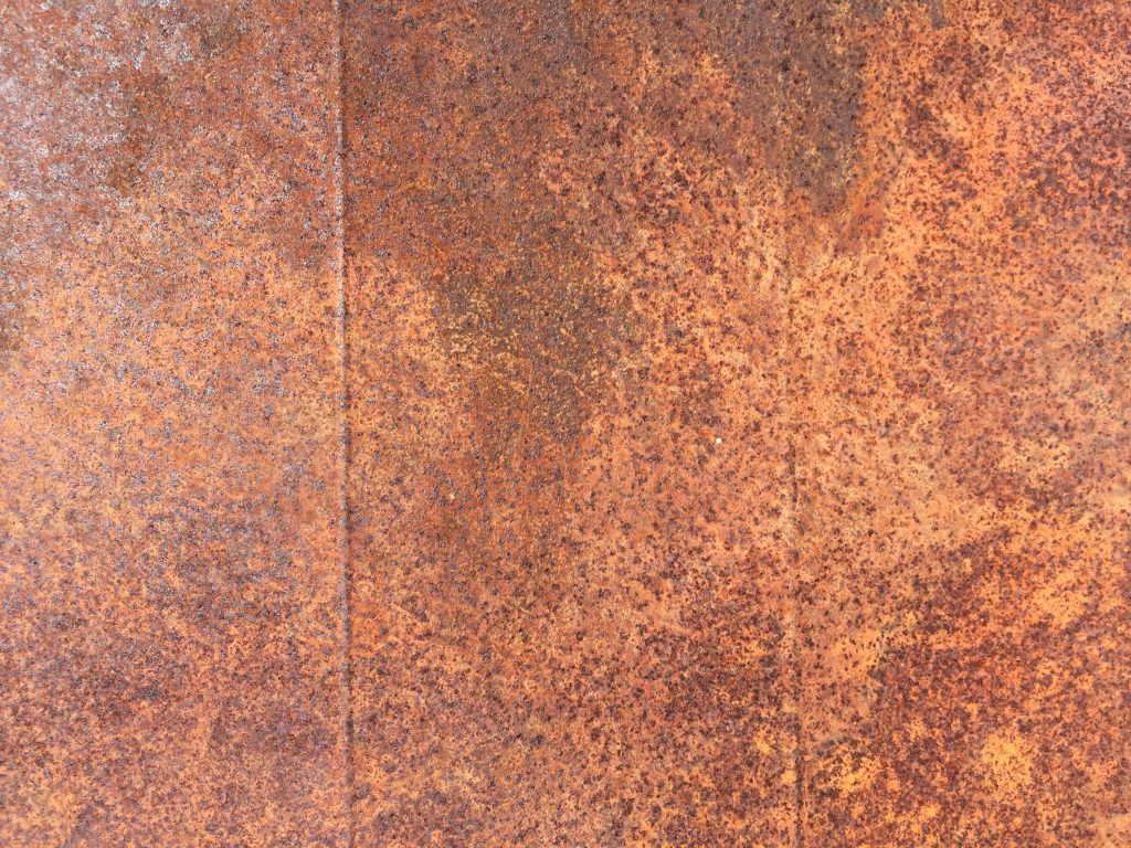Metal surface covered in rust texture