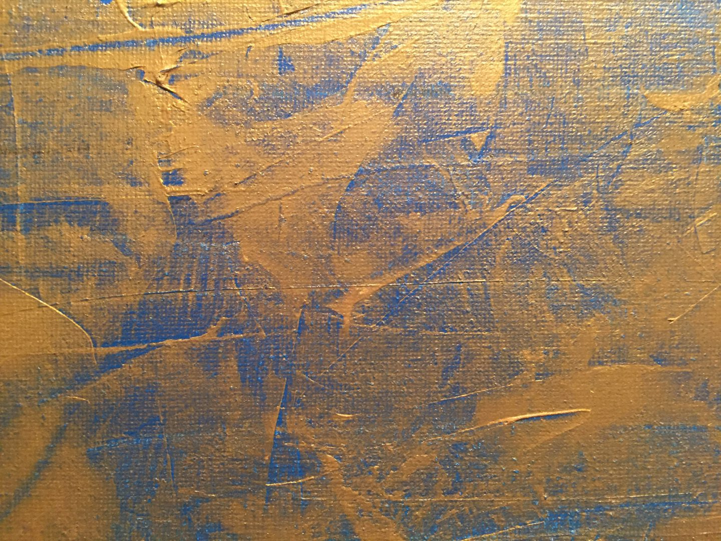 Gold paint over bright blue canvas texture   Free Textures