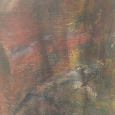 Muddy abstract washed out painting with dry brush strokes