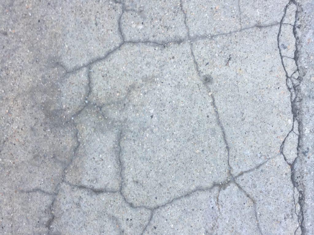 Asphalt with cracks