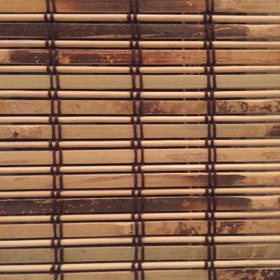 Brown and white wood slats