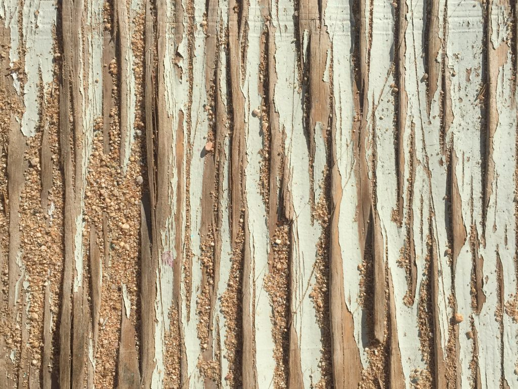 Wood splintered wood with chipping paint