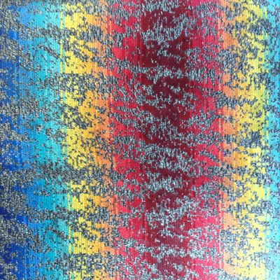 Fabric close up with rainbow stripes