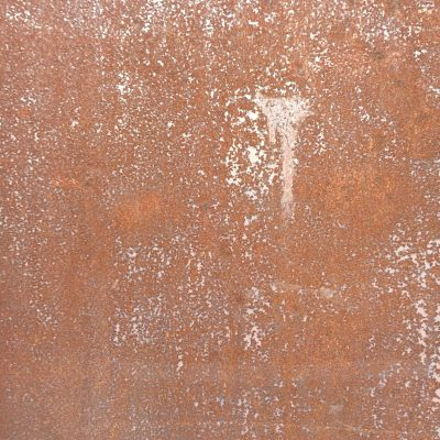 Thin layer of rust covering metal