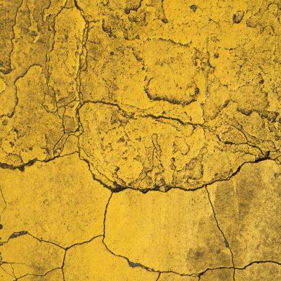 Burnt yellow paint cracking
