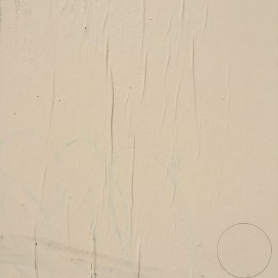 Coat of off white paint on wall with wrinkled paper