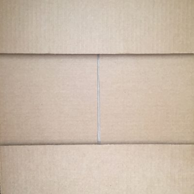 Light brown cardboard box folds