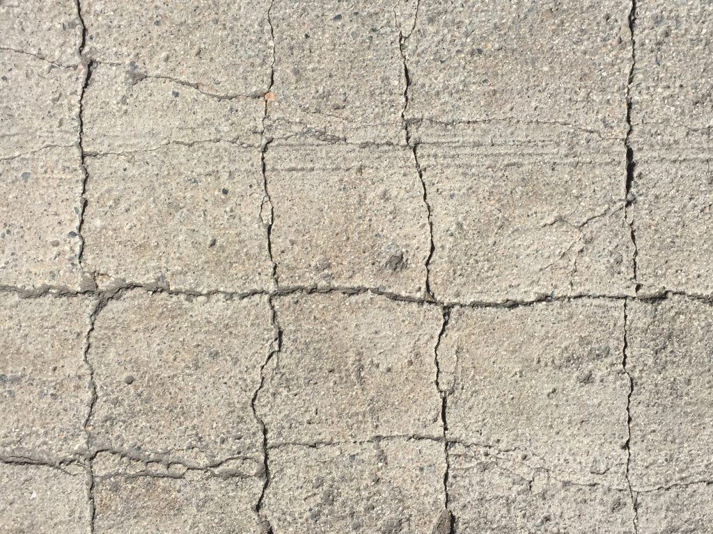 Rough square breaks in pavement