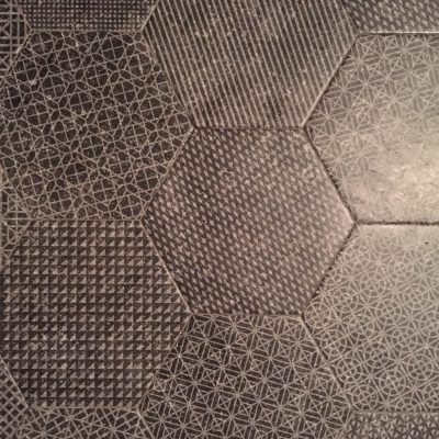 Floor tiles with various intricate patterns on each
