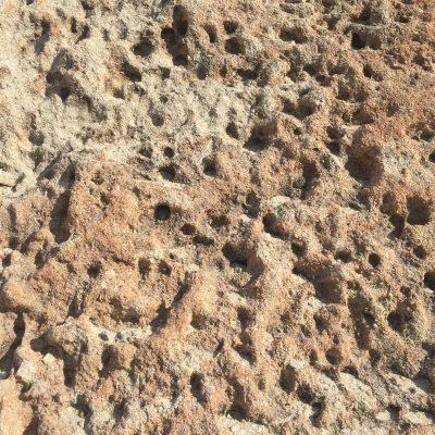 Bumpy lava rock close up