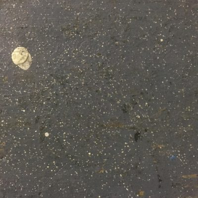 Rubbery looking asphalt close up