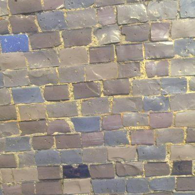 Blue and purple ceramic tiles