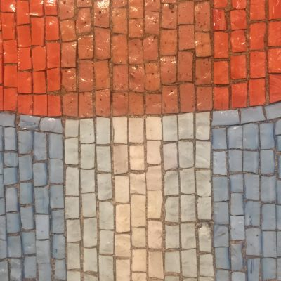 Colorful tiles from ceramic mosaic