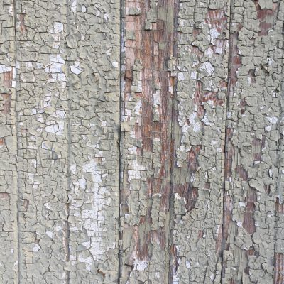 Cracking paint over old wood