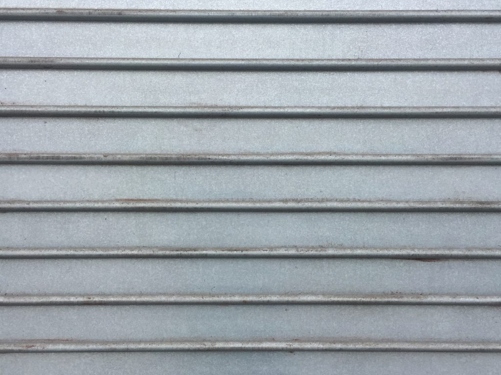 Metal wall with horizontal lines