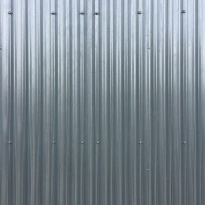 Silver metal fence