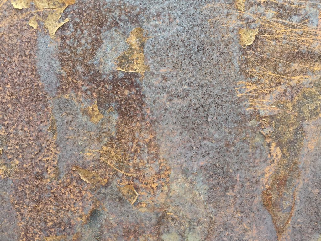 Crusty and corroded metal