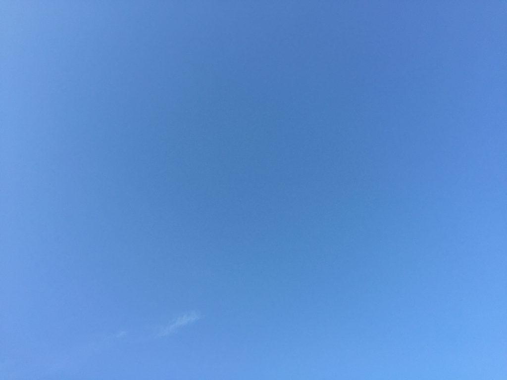 Light blue sky with cloud