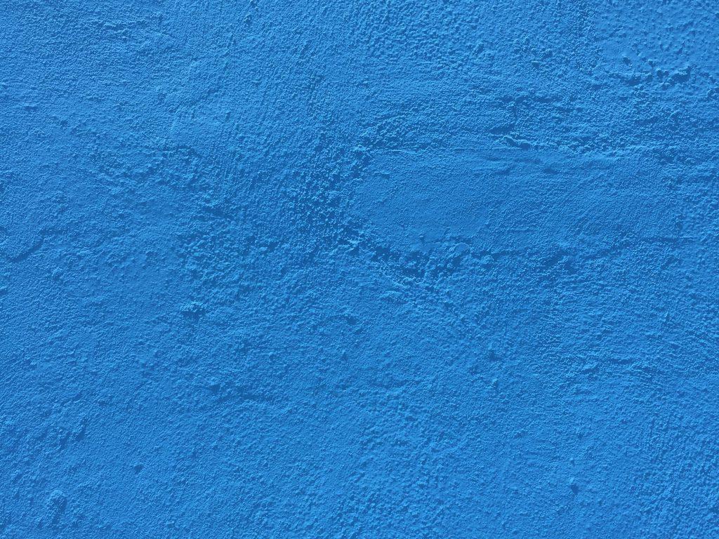 Bright blue concrete