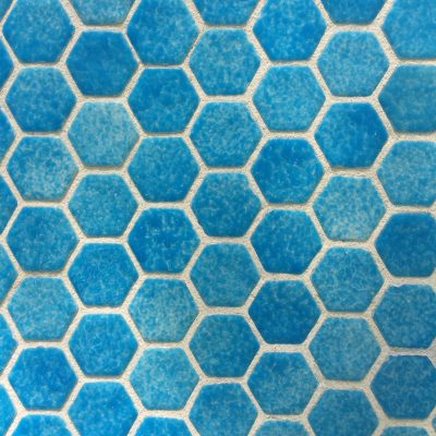 Cloudy blue hexagon tiles