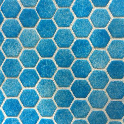 Cloudy blue hexagon tiles