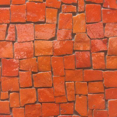 Orange red tiles